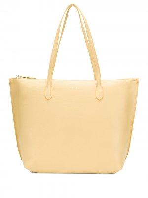 Большая сумка-тоут Luce Furla. Цвет: желтый