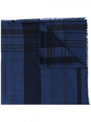 Легкий шарф в клетку Etro. Цвет: синий
