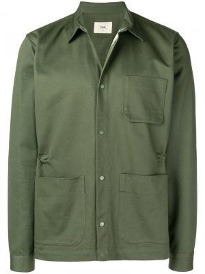 Buttoned shirt jacket Folk. Цвет: зеленый