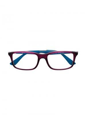 Двухцветные очки в прямоугольной оправе RAY-BAN JUNIOR. Цвет: розовый