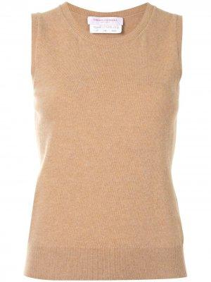 Вязаный топ без рукавов Carolina Herrera. Цвет: коричневый