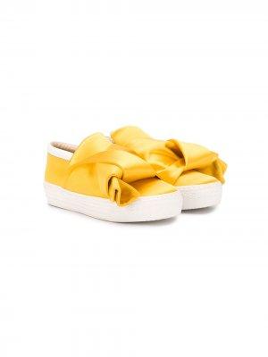 Слипоны с узлом Nº21 Kids. Цвет: желтый