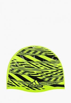 Шапочка для плавания adidas. Цвет: зеленый