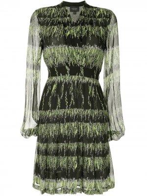 Платье с принтом Giambattista Valli. Цвет: черный