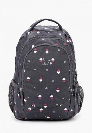 Рюкзак Button Blue. Цвет: серый