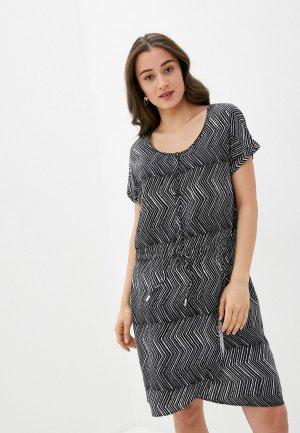 Платье Luhta. Цвет: черный