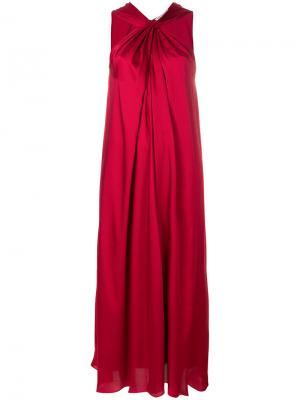 Длинное платье с открытыми плечами Elizabeth And James. Цвет: красный