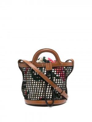 Сетчатая сумка-ведро Marni. Цвет: черный