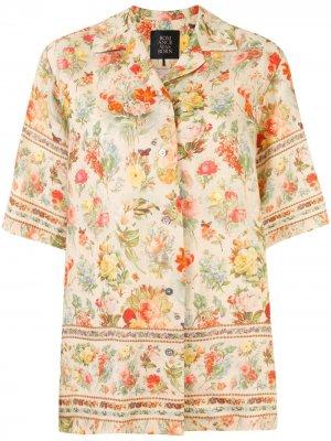 Рубашка Foxworth Hall с цветочным принтом Romance Was Born. Цвет: желтый