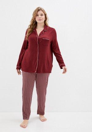 Пижама Ulla Popken. Цвет: бордовый