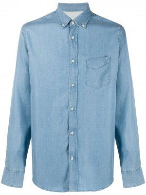 Джинсовая рубашка с длинными рукавами Officine Generale. Цвет: синий