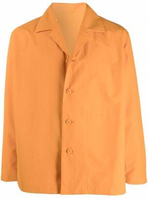Куртка-рубашка на пуговицах Homme Plissé Issey Miyake. Цвет: оранжевый