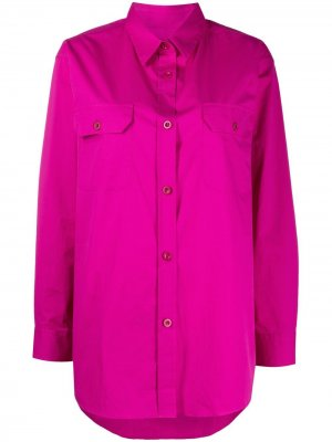 Рубашка с длинными рукавами и карманами PS Paul Smith. Цвет: розовый