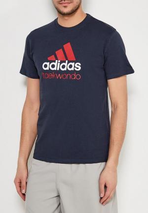 Футболка adidas Combat. Цвет: синий