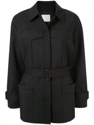 Пальто с карманами в стиле милитари Dion Lee. Цвет: черный