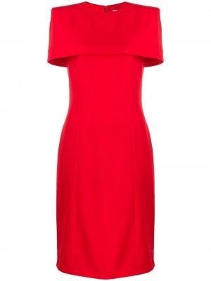 Приталенное платье-кейп Givenchy. Цвет: красный