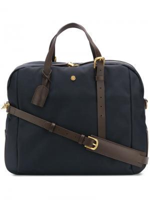 Дорожная сумка с контрастными ручками Mismo. Цвет: синий
