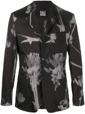 Пиджак с графичным принтом Paul Smith. Цвет: черный