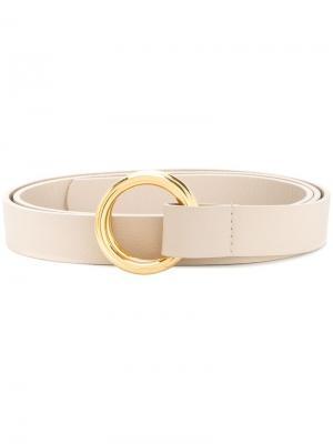 Ремень с пряжкой-кольцом B-Low The Belt. Цвет: белый
