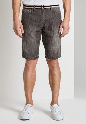 Шорты джинсовые Tom Tailor. Цвет: серый