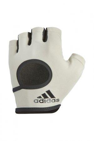 Перчатки для фитнеса ADIDAS. Цвет: серый