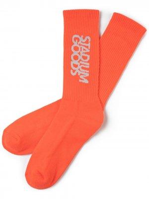 Носки с вышитым логотипом Stadium Goods. Цвет: оранжевый
