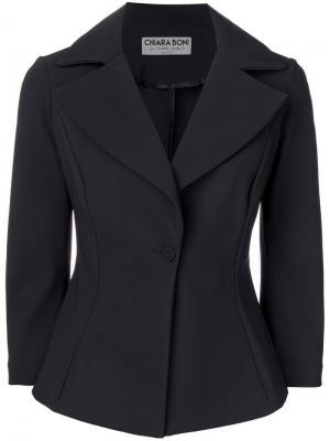 Приталенный блейзер Le Petite Robe Di Chiara Boni. Цвет: черный