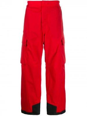 Сноубордические брюки с мембраной Gore-Tex Moncler Grenoble. Цвет: красный