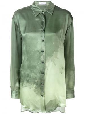 Рубашка с заостренным воротником Wunderkind. Цвет: зеленый