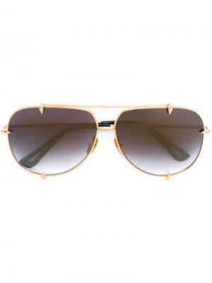 Солнцезащитные очки Talon Dita Eyewear. Цвет: золотистый