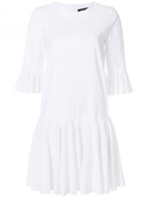 Расклешенное платье с заниженной талией Antonino Valenti. Цвет: белый