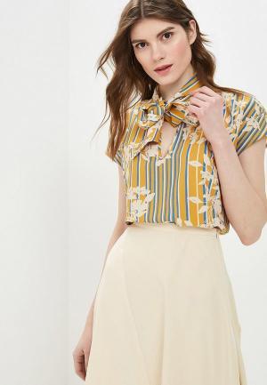Блуза Sisley. Цвет: желтый