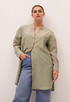 Блуза Violeta by Mango. Цвет: хаки