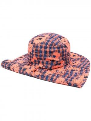 Шляпа в клетку HENRIK VIBSKOV. Цвет: оранжевый