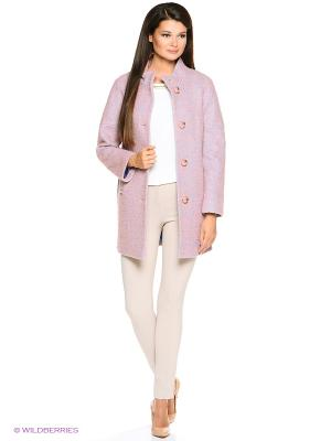 Пальто Amulet. Цвет: розовый, темно-зеленый