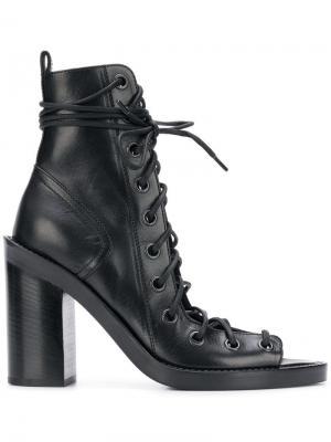 Ботильоны на шнуровке Ann Demeulemeester. Цвет: черный