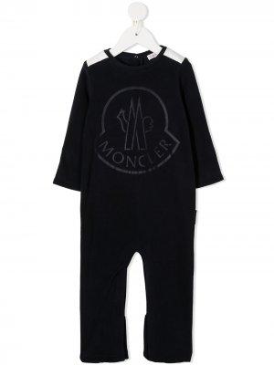 Ромпер с логотипом Moncler Enfant. Цвет: черный