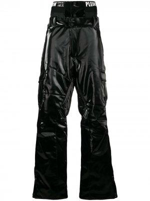 Горнолыжные брюки спокрытием Philipp Plein. Цвет: черный