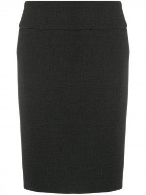 Прямая юбка средней посадки Peserico. Цвет: серый