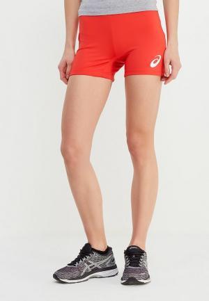 Шорты спортивные ASICS. Цвет: красный