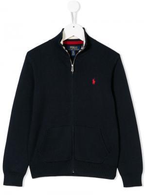 Пуловер на молнии Ralph Lauren Kids. Цвет: синий