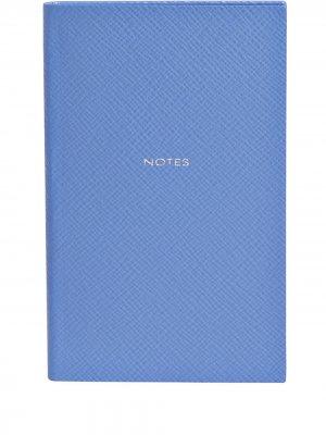 Блокнот Notes Smythson. Цвет: синий