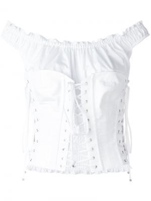 Блузка-корсет Dolce & Gabbana. Цвет: белый