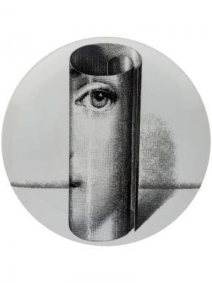 Тарелка scroll cameo Fornasetti. Цвет: белый