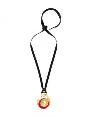 Ожерелье с кулоном Marni. Цвет: металлик