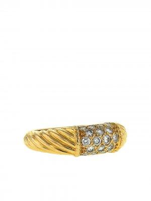 Кольцо Philippine 1980-х годов из желтого золота с и бриллиантами Van Cleef & Arpels. Цвет: желтый,белый