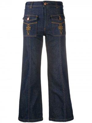 Расклешенные джинсы средней посадки See by Chloé. Цвет: синий