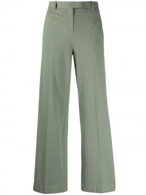 Расклешенные брюки средней посадки Circolo 1901. Цвет: зеленый