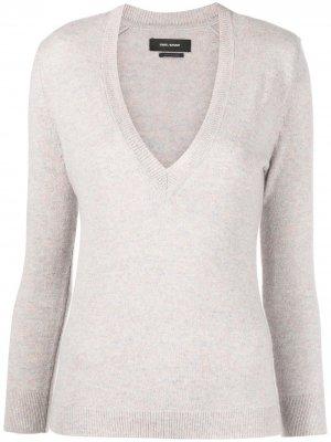 Пуловер с V-образным вырезом Isabel Marant. Цвет: нейтральные цвета