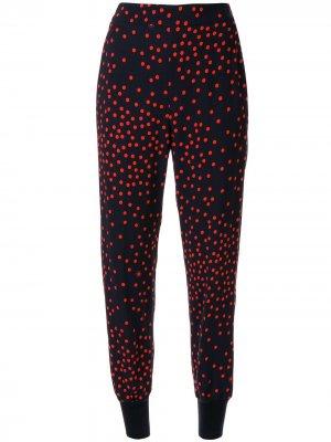 Зауженные брюки в горох Stella McCartney. Цвет: 4101 - ink